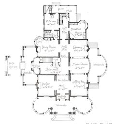 """George F. Barber homes - """"Georgian type Classic Colonial"""" Floor Plan. This is very old, and I'd want some walls knocked down to make it more of an open plant. The Plan, How To Plan, Georgian Mansion, Victorian Homes, Georgian House, Best House Plans, House Floor Plans, Vintage House Plans, Bungalow Homes"""