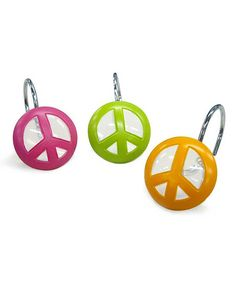 Peace Out Shower Hook - Set of 12