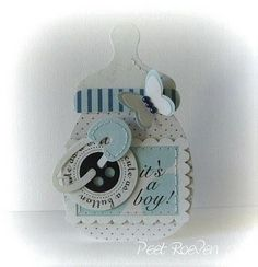 baby boy bottle card - bjl