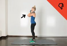 Common Mistake: Your arms come forward instead of staying directly overhead. #fitness #workout http://greatist.com/move/moves-anyone-can-do