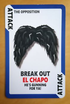 Cartoon Card Game Card from Political Suicide The Game! El Chapo https://www.etsy.com/uk/listing/465469917/political-suicide-the-card-game