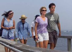 Rory Kennedy, second from right, and her then fiance Mark Bailey, right, and other relatives walk across a private pier to the family compound at Hyannis Port, Mass., while awaiting the outcome of the search for John F. Kennedy, Jr.\'s plane Sunday, July 18, 1999. John F. Kennedy Jr. was flying to Hyannisport to attend the wedding of Rory, daughter of Ethel and Robert F. Kennedy, when his plane disappeared off the Massachusetts coast. The couple postponed the nuptials and eventually wed Aug…