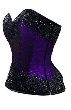 Rich, royal purple under hand beading, does it get more glamorous? The Violet Vixen - Burlesque Glimmer Purple Beaded Corset, $184.00 (http://thevioletvixen.com/corsets/burlesque-glimmer-purple-beaded-corset/) steel boned authentic corset purple hand beading burlesque glamour bling