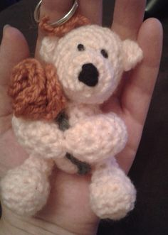 Ravelry: Free Pattern - Teddy with a Rose Keyring pattern by Peach. Unicorn
