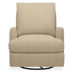 Colton Swivel Glider Chair & Ottoman in Tatum - Modern Accent & Lounge Chairs - Modern Living Room Furniture - Room & Board
