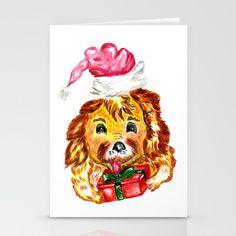 Happy Christmas dog Stationery Cards