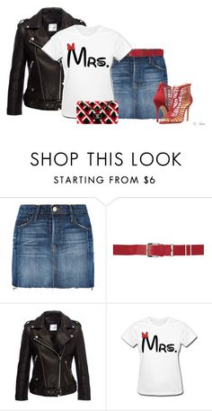 """""""Do it with Red!"""" by ksims-1 ❤ liked on Polyvore featuring Frame Denim, Anine Bing, Schutz and Chanel"""