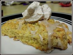 Spiced Pumpkin Scones with Cinnamon Whipped Cream