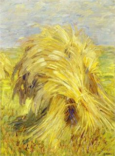 Sheaf of Grain - Franz Marc 1907  Was one of the key figures of the German Expressionist movement