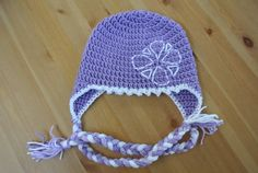 This hat is inspired by Sofia the First and can be made in any size. This perfectly purple hat is made with a soft acrylic yarn and is machine washable