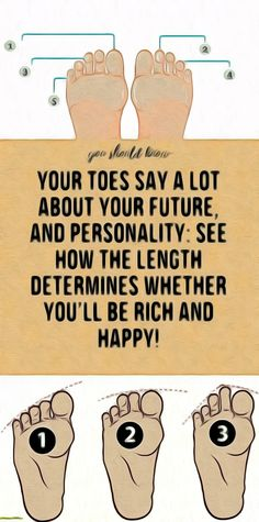 YOUR TOES SAY A LOT ABOUT YOUR FUTURE, AND PERSONALITY: SEE HOW THE LENGTH DETERMINES WHETHER YOU'LL BE RICH AND HAPPY! Healthy Detox, Healthy Eating Tips, Healthy Habits, Healthy Dinner Recipes, Health Articles, Health Advice, Health Quotes, Beauty Tips, Diy Beauty