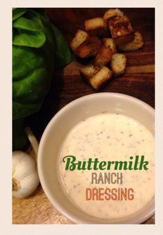 Creamy, delicious, ranch salad dressing