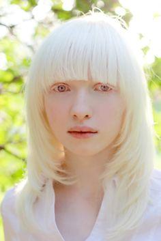 The gorgeous Russian albino model, Nastya (Kiki) Zhidkova