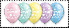 Bouquet of Pastel Baby Shower Balloons balloons by PartySurprise, $4.95