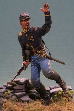 Dismounted Union Cavalry by John Rosengrant. This model shows the uniform in excellent color and detail!