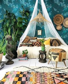 Boho dream room. Home decor at it's best!