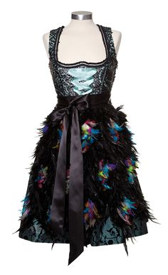 Couture Dirndl Ophelia Blaimer feathers