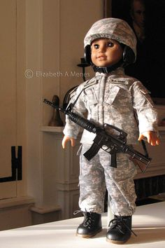 Fred, an American Army Boy Doll (formerly American Girl Doll JLY 28; uniform and helmet cover from Lee & Pearl Pattern 1010: https://www.etsy.com/listing/172330824/lp-pattern-1010-army-combat-uniform?