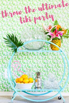 How to Throw the Ultimate Tiki Party + 3 Delicious Tiki-Themed Cocktails | the INSPIRED home