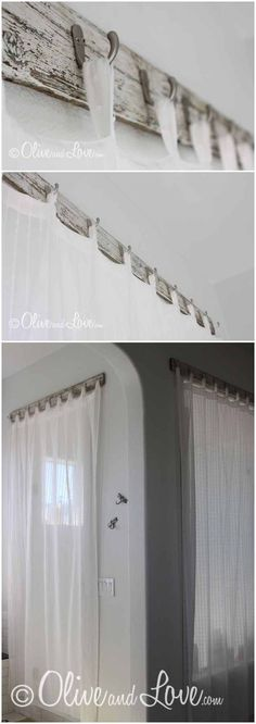Neat idea to hang curtains