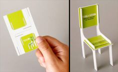 Excellent 3D business card - not sure what company, but a furniture designer out there must pinch this concept.