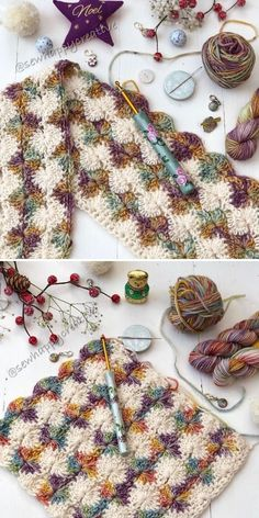 Catherine Wheel Stitch Ideas Free Patterns and Resources. Introducing multicolored artisan yarn can be an experiment worth a try! Pair it with neutrals and see how the rainbow unfolds. crafts sewing Catherine's Wheel Stitch by SewHappyCreative Crochet Afghans, Crochet Blanket Patterns, Crochet Stitches, Knitting Patterns, Free Knitting, Crochet Gratis, Free Crochet, Crochet Baby, Knit Crochet