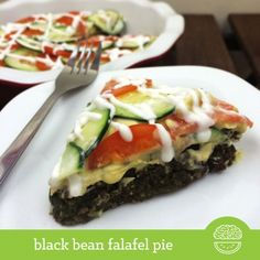 Ripped Recipes - Black Bean Falafel Pie