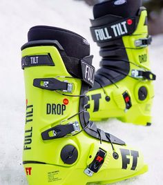 Full Tilt has released this Drop Kick Olympic Green version of 2019 ski boots early just before the Olympics and they are now available for you to attack the mountains in the lightest freestyle boots on the market! Available in 2 different models, a proven design, custom fitting Intuition liners, no wonder why 76 Skiers used Full Tilt boots during the olympics and for a 10 time running, Full Tilt has won Olympic gold again during the games, yep that's 40 years of gold medals baby!!!