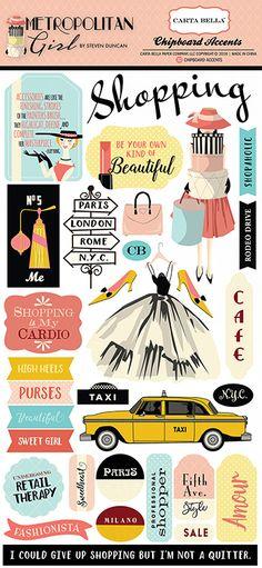 Carta+Bella+Paper+-+Metropolitan+Girl+Collection+-+Chipboard+Stickers+at+Scrapbook.com