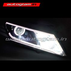 Autoglam Honda City Evoque Style HID Projector Headlight is amongst the hottest selling car in India adding projector headlamps to it makes it unique and impressive. Projector Headlights, Car Headlights, Hidden Projector, Honda City, City Car, Car Lights, Car Accessories, Wire, Detail