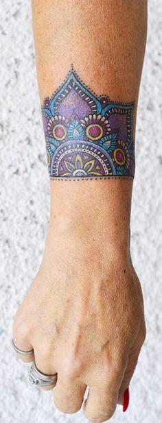 mandala color tattoo