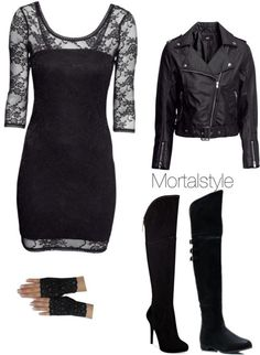 Inspired by Clary's party outfit in City of Bones.