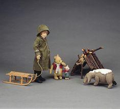 Wintertime Pooh and Piglet Eeyore, Tigger, John Wright, Winnie The Pooh Quotes, Paddington Bear, Pooh Bear, Felt Animals, Winter Time, Little Ones
