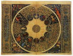 'The heavens as they were on April 25, 1384′ by the Persian polymath Mahmud ibn Yahya ibn al-Hasan al-Kashi.