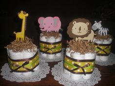 Safari Jungle Girl and Monkey Diaper by bearbottomdiapercakes, $8.50