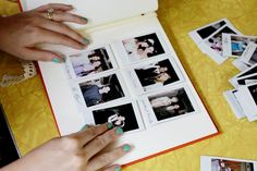 Polaroid wedding guest book - they get a polaroid taken and sign it, then you make it into a fun album!