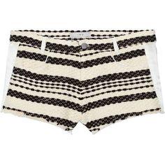 IRO Axano silk-trimmed tweed shorts (7,185 MKD) ❤ liked on Polyvore featuring shorts, slim shorts, slim fit shorts, iro shorts, pocket shorts and tweed shorts