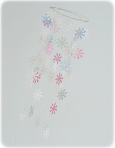 Papper flower mobile