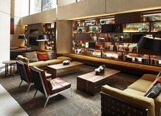 Grand Hyatt lobby and lounge by CCS Architecture, San Francisco lounge hotel hotels and restaurants Hotel Lounge, Lobby Lounge, Lounge Chairs, Lounge Design, Chair Design, Design Design, Grand Hyatt San Francisco, Restaurants, Public Hotel