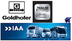 "Goldhofer wins ""Trailer Innovation Award 2015"" in the category chassis  http://www.specialtransportreport.com/IAA-2014-journal.html  #Goldhofer #IAA #Trailer #Hannover #Chassis #Award"