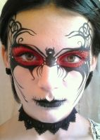 Adult halloween spider mask by http://brierleythorpe.com/Adult-Face-Art.php