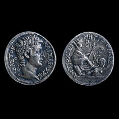 Silver tetradrachm of Augustus    Roman, around 5 BC  From the mint of Antioch, Syria    Roman monetary policy in the East