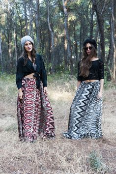 Marilena (Left) : Hurit Top - Abey Skirt Giannita (Right) : Donoma Top - Abey Skirt / Photo by : Theo Vranas