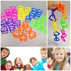 30 pcs HEART CHAIN LINKS PLASTIC TOY  MIXED COLOR PARTS KID DIY kid 592 | Pet Supplies, Bird Supplies, Toys | eBay!