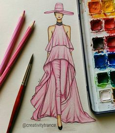 Inspiration - Ralph & Russo (Ralph & Russo) Spring 2019 Haute Couture from Paris Fashion Week .… Source by lisetepote dress sketches Dress Design Drawing, Dress Design Sketches, Fashion Design Sketchbook, Dress Drawing, Fashion Design Drawings, Fashion Sketches, Fashion Drawing Dresses, Fashion Illustration Dresses, Fashion Dresses