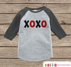Kids Valentines Outfit - XOXO Kids Valentine's Day Shirt or Onepiece - Valentine Shirt for Boy or Girl - Toddler, Youth Valentine Day Outfit