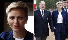 Princess Charlene and Prince Albert of Monaco colour coordinate