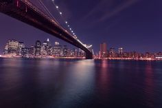 ニューヨーク市, ブルックリン橋, 泊, スカイライン, ニューヨーク, アメリカ合衆国, アメリカ, 市