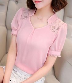 Blusa manga fofa e meia gola - DIY - molde, corte e costura - Marlene Mukai // Татьяна Неизвестная Fashion Casual, Women's Summer Fashion, Trendy Fashion, Womens Fashion, Cute Blouses, Shirt Blouses, Shirts, Moda Do Momento, Diy Clothes