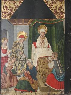 Domingo Ram   Panel with the Birth of St. John the Baptist from Retable   Spanish   The Met